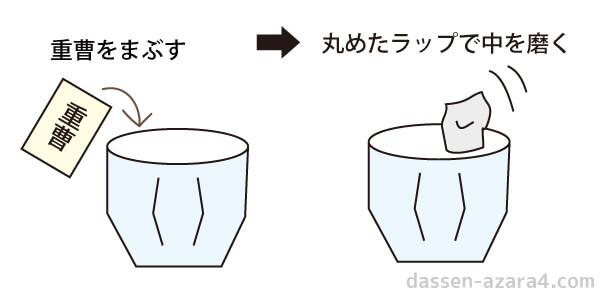 グラスの家事えもんの掃除方法